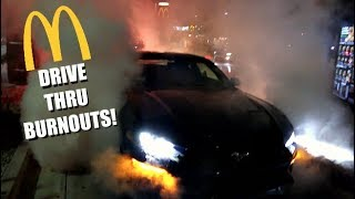 MCDONALDS DRIVE-THRU BURNOUTS! We Shut It DOWN