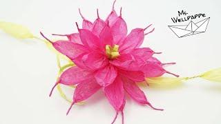 Blumen basteln mit Papierbändern