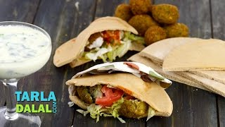 Falafel, Lebanese Falafel stuffed in Pita Bread by Tarla Dalal