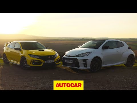 Toyota GR Yaris meets Honda Civic Type R | Which is 2020's best hot hatch? | Autocar