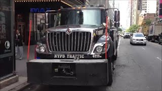Giant NYPD Tow Truck Wrecker On West 42nd Street In Midtown Manhattan