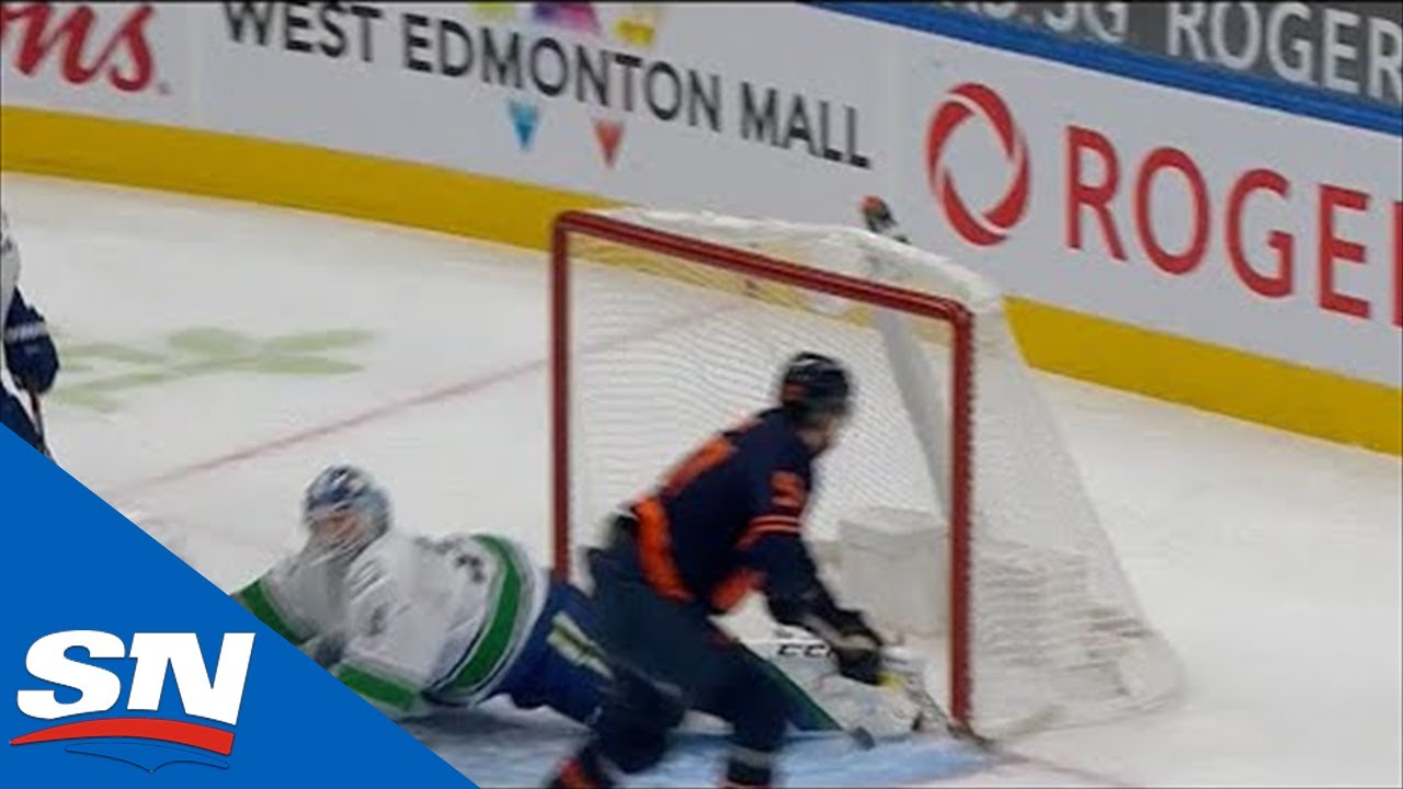 Braden Holtby Stretches Out To Rob Connor McDavid With His Toe