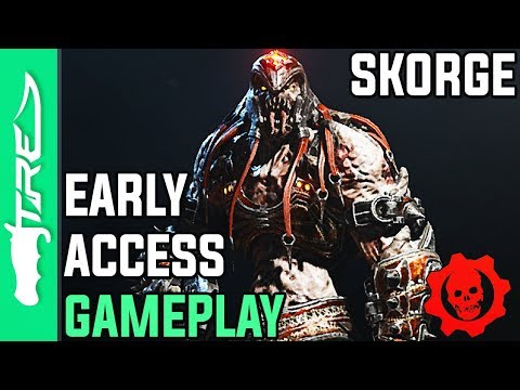 """Gears of War 4 Multiplayer Gameplay - """"Skorge"""" Character Early Access Gameplay (GOW4 Skorge)"""