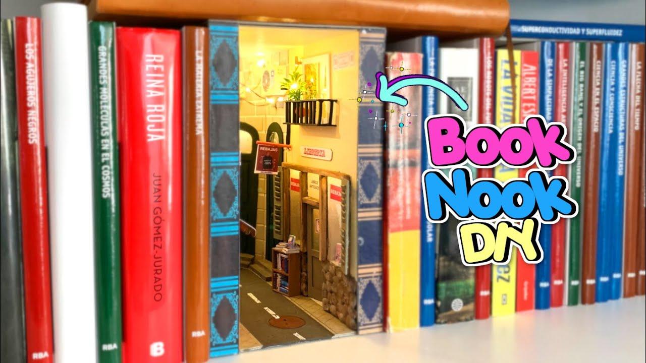 Hice un pasadizo secreto en mi estanteria 📚 BOOK NOOK inspirado en una calle Madrid - Manualidades