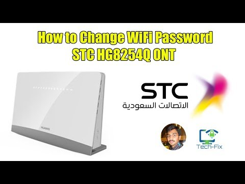 How to change WiFi Password STC ONT HG8254Q