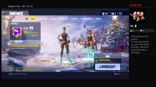 Fortnite game play trying to get the win
