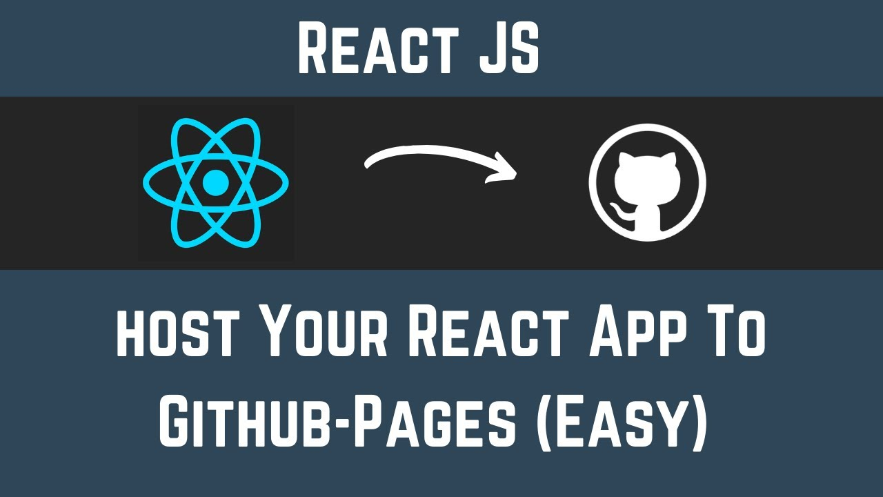 Deploy Your React App To GitHub-Pages (Easy 2 Step Process)