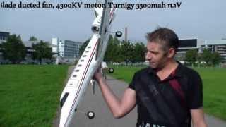 RC flight Video Lear Jet 45 twin Ducted Fan Electro Turbine Model