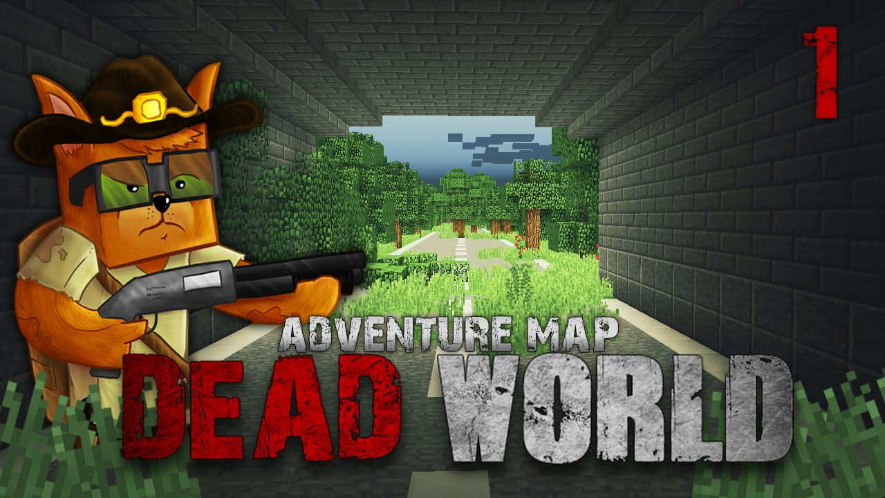 Minecraft Zombie Apocalypse Survival - Dead World Ep 1 Adventure Map ...