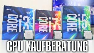 cpu kaufberatung i3 vs i5 vs i7   gaming videoschnitt