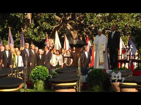 The National Anthem of Holy See During the Visit of Pope Francis at the White House