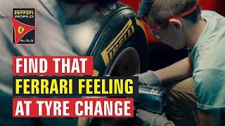 Ferrari World Abu Dhabi | Find That Ferrari Feeling | Tyre Change Experience