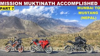 Made it to MUKTINATH(NEPAL) from MUMBAI | 2500kms of Pain & Gain | Best Moment of My Life