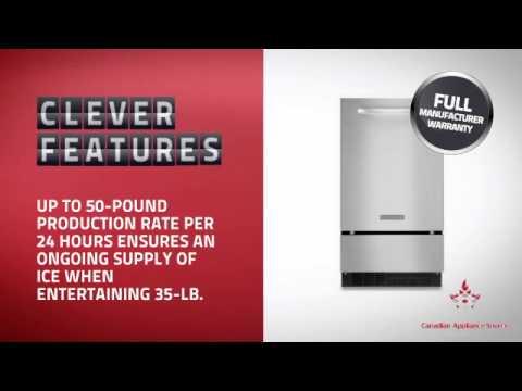 Kitchenaid Kuic18nnxs Built In Under Counter Ice Maker