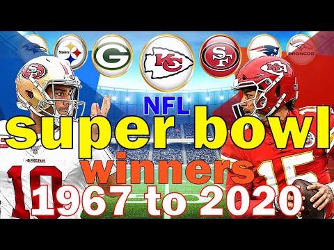 NFL All Super Bowl Winners (1967-2020)