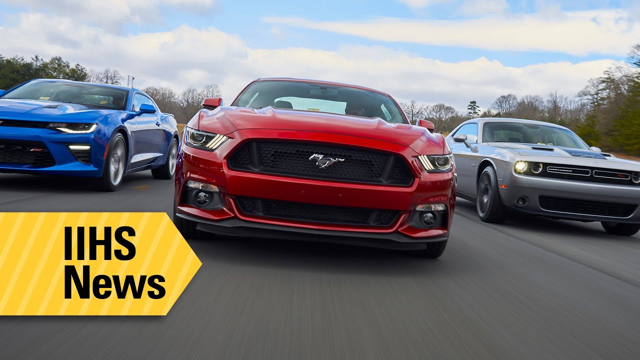 A range of ratings for American muscle cars - IIHS News - YouTube