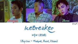 [2.68 MB] [Han/Rom/Eng]IceBreaker - 비투비 (BTOB) (Rap line - Minhyuk, Peniel, Ilhoon) Color Coded Lyrics Video