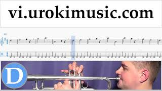 Tự Học Kèn Trumpet Besame Mucho Hướng Dẫn  Bài Hát Phần 1 Bài tập um-b687