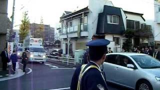 小沢一郎 世田谷区深沢の自宅前にて右翼団体 thumbnail
