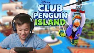 UNDERWATER RACING!!! Club Penguin Island Meet Up!