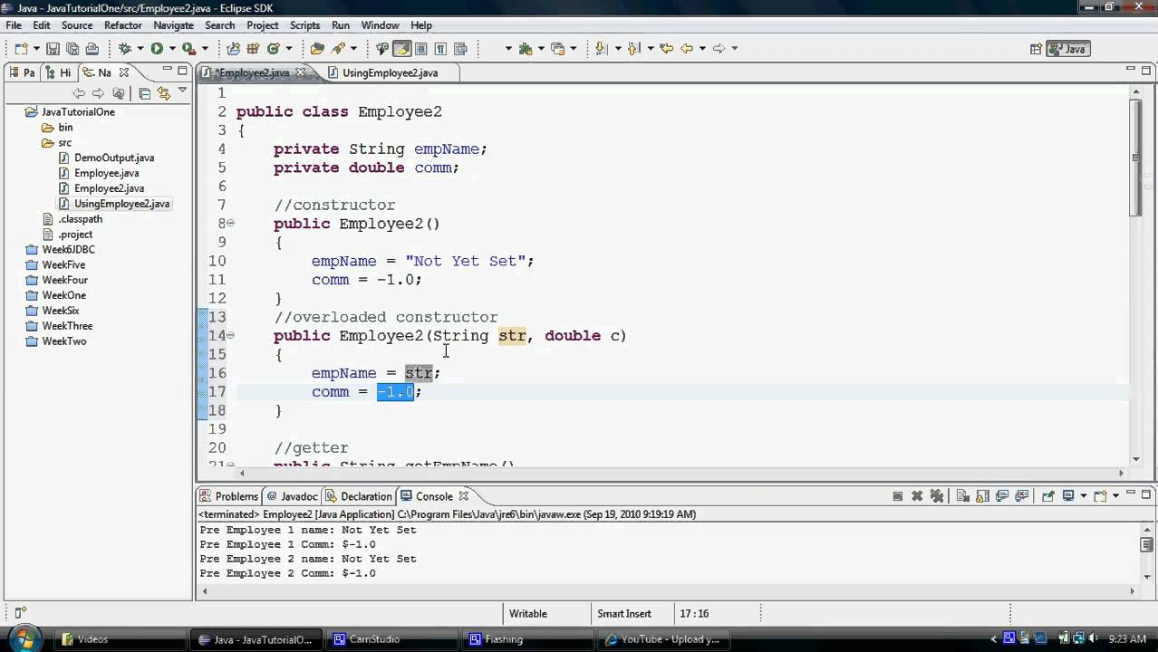 Java tutorial overloaded constructors youtube java tutorial overloaded constructors baditri Image collections