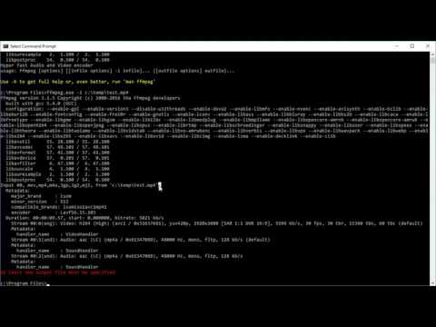 ffmpeg basics - get information about video files - codec, resolution, frame rate, etc