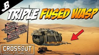Crossout - Triple Wasp Fused For Reload Builds. Only a 2 second reload. Crossout Gameplay)