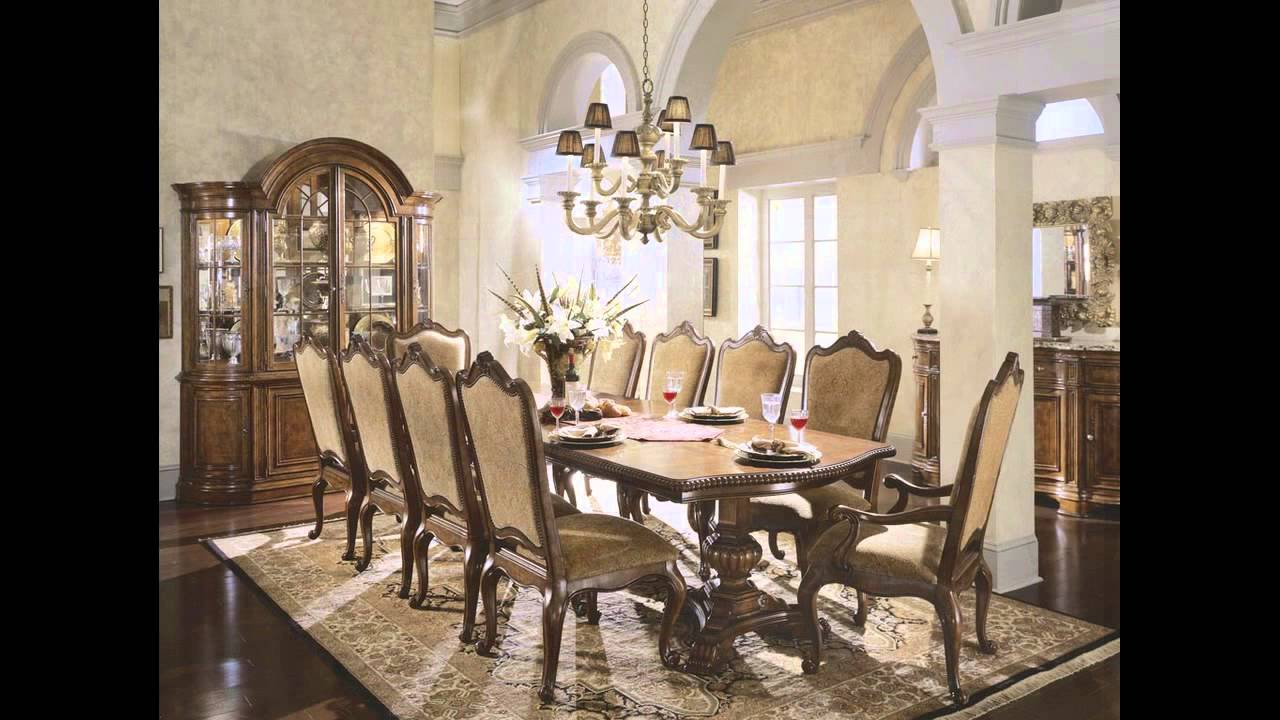 Fancy dining tables youtube for Fancy dining room sets