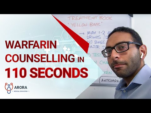 Warfarin counselling in 110 seconds