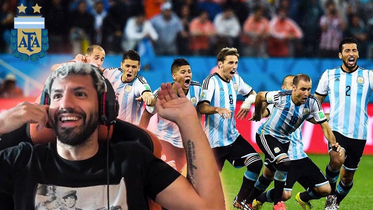 Kun Aguero REACCIONA a los PENALES de ARGENTINA - HOLANDA | MUNDIAL 2014