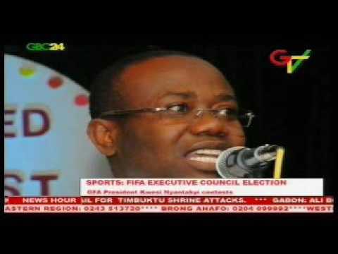 Ghana FA Boss Kwesi Nyantakyi contests for FIFA post