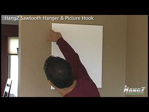 How To Video: Hanging a Canvas with HangZ Sawtooth Hanger & Sawtooth ...