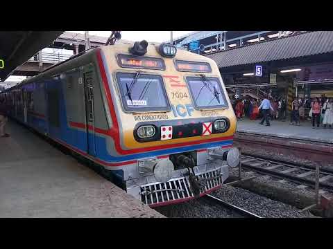 Indian Railway's First Air Conditioned EMU Departing Andheri Station