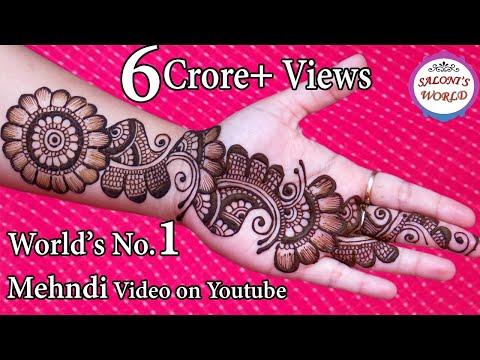 Simple Arabic Henna Mehndi Designs | 3D Mehndi Designs | Gol Tikki By Jyoti Sachdeva.