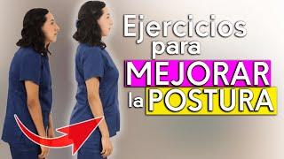 Rutina de ejercicios para MEJORAR la POSTURA del Adulto Mayor (Quitar la Joroba)