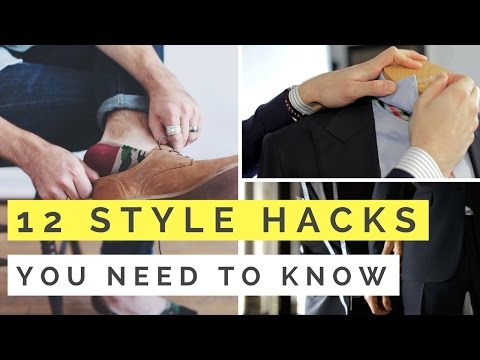 12 Men's Style Hacks EVERY Man Should Know…