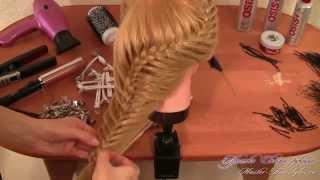 Прическа на основе косы из трех прядей(http://womanuroki.ru/pleteniekos - жмите по ссылке, чтобы получить все бесплатные уроки по прическам Прическа на основе..., 2015-01-08T10:38:20.000Z)