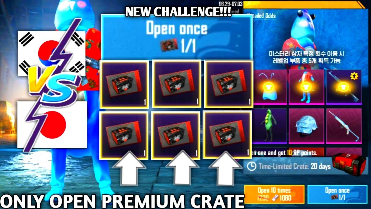 MY NEW CHALLENGE!!! ONLY OPEN PREMIUM CRATE AUTO LUCKY? | PUBG MOBILE KOREA