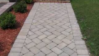 How To Build Brick Steps And Brick Walkway