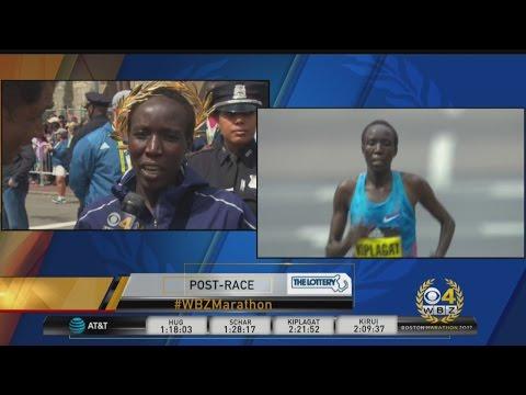Edna Kiplagat On Boston Marathon Women's Division Win: 'It Feels Great'