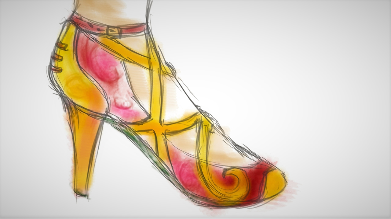 Year of the Rooster - High-heel Concept Sketch [Speedpaint]