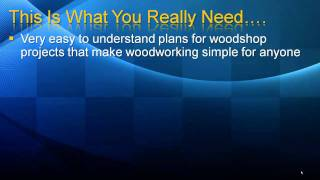 Woodshop Projects With Easy Plans That Get Results- Part 1/2