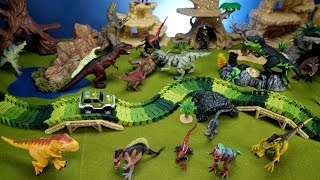 Dinosaur World Playset! Learn Dinosaurs Names For Kids! Fun Toy Video!