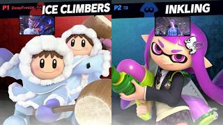 Super Smash Bros. Ultimate - Ice Climbers vs Inkling - HD Gameplay