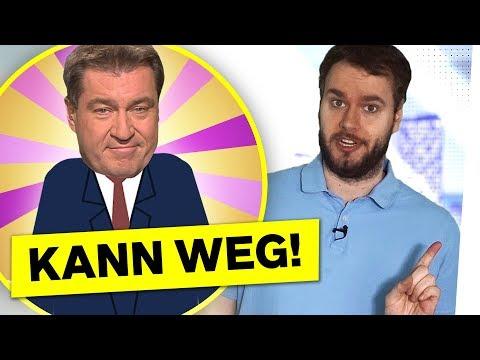5 Gründe, SÖDER durch 1 SACK KARTOFFELN zu ersetzen – Bayern Wahl