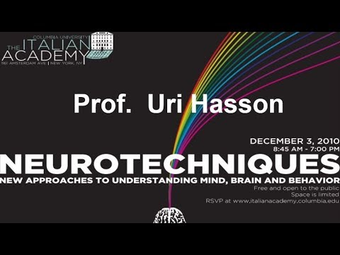 Conference: Neurotechniques, Prof  Uri Hasson