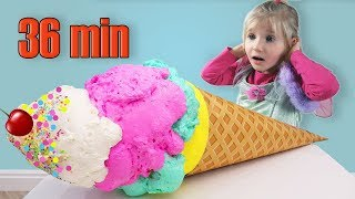 Alina playing Ice Cream Toys + More Baby Songs and Nursery Rhymes Video for Kids And Children