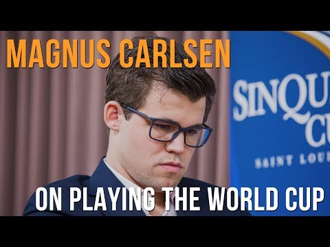 World Chess Champion Magnus Carlsen On Playing The World Cup