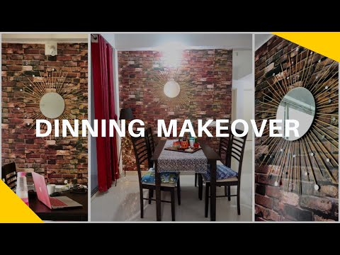 Surprise Dining Room Makeover in Budget !! Removable wallpaper for rented apartment ?