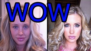 50 Porn Stars With and Without Make-Up